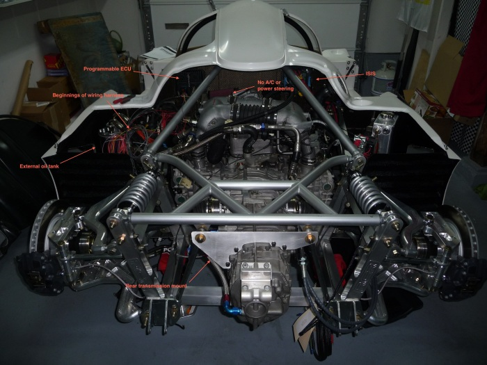 Engine compartment layout