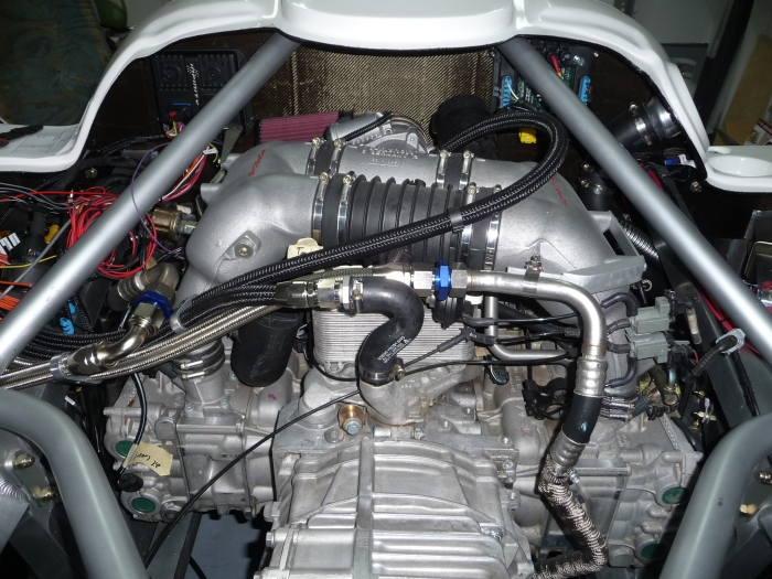 Engine compartment close-up