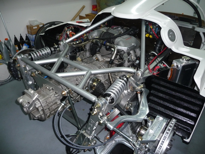 Engine compartment close-up 2