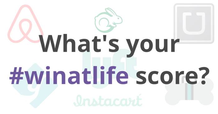 What's your #winatlife score?